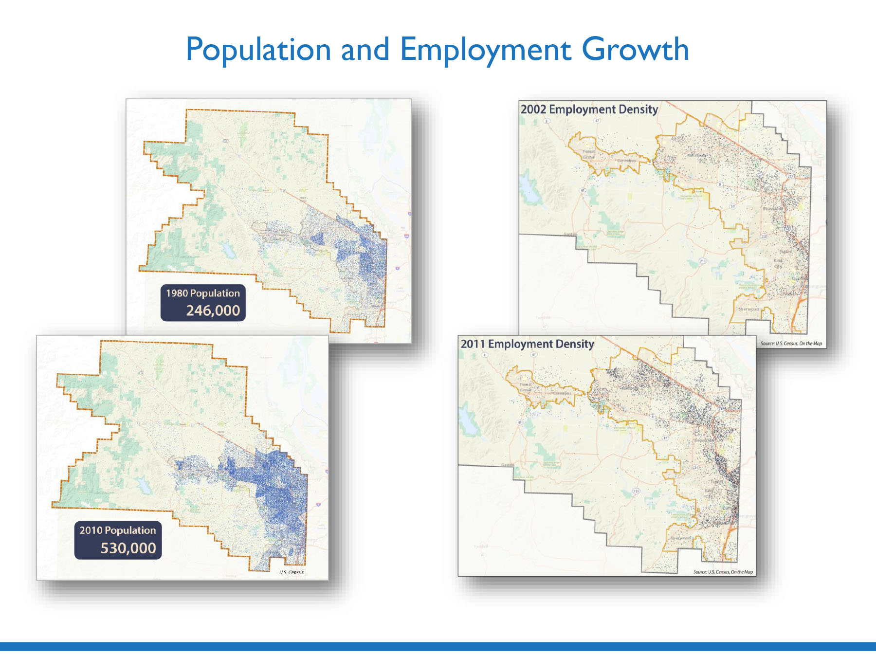 population and employment growth the county exceeded growth projections in